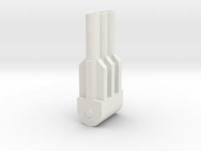 Grandus Shoulder Cannon in White Natural Versatile Plastic