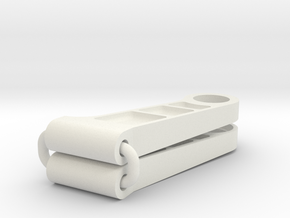 Tamiya 959 upper arm with pockets in White Natural Versatile Plastic