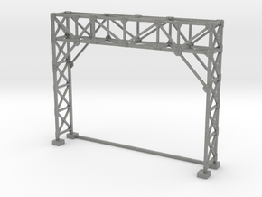 HO Scale Signal Gantry 2 tracks in Gray PA12