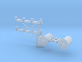 O Scale Telephone Poles Parts in Smooth Fine Detail Plastic