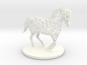 Horse Voronoi wireframe in White Processed Versatile Plastic