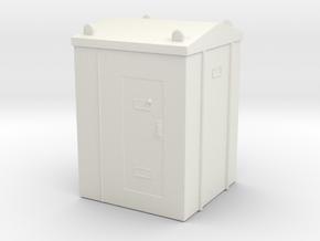 Railway Relay Cabinet 1/87 in White Natural Versatile Plastic
