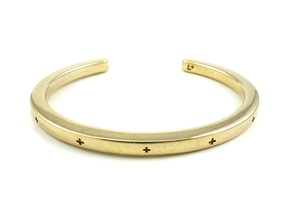 Plus Cuff (large) in 14k Gold Plated