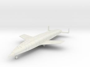 (1:144) Sanger Silbervogel (Wheels down) in White Natural Versatile Plastic