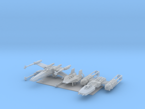 1/350 Rebel Fighter Variety Pack in Smooth Fine Detail Plastic
