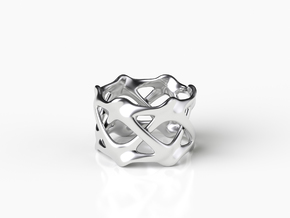 CLAVICLE RING in Natural Silver: 7 / 54