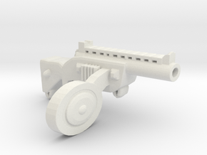 Automat Side Clip Ppsh41 in White Natural Versatile Plastic