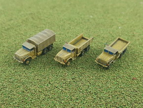 US M923 5to Trucks 1/285 in Smooth Fine Detail Plastic