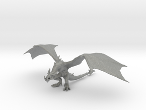 Wyvern 60mm DnD miniature fantasy games and rpg in Gray PA12
