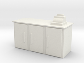 Shop Cash Counter 1/43 in White Natural Versatile Plastic