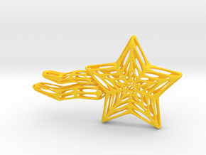 Shooting Star Voronoi in Yellow Processed Versatile Plastic