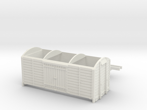 LBSCR 8 ton Covered Goods Wagon (HO scale only) in White Natural Versatile Plastic