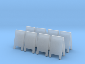 Advertising Board (x8) 1/100 in Smooth Fine Detail Plastic