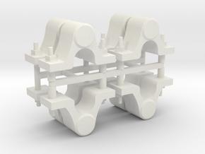 "7/8"" Scale Dinorwic Axleboxes in White Natural Versatile Plastic"