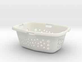 Laundry Basket in 1:12, 1:24 in White Natural Versatile Plastic: 1:24