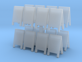 Advertising Board (x16) 1/144 in Smooth Fine Detail Plastic
