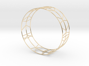 Bracelet Stripes geometric in 14K Yellow Gold