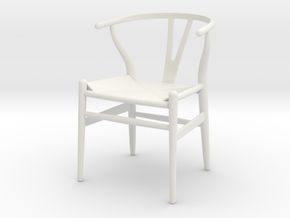 Wishbone Chair in 1:12 and 1:24 in White Natural Versatile Plastic: 1:24