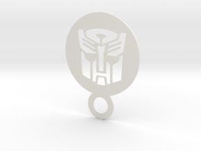 Autobot Logo or upside down darth wader in White Natural Versatile Plastic