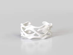 CLAVICLE CUFF in White Processed Versatile Plastic: Large