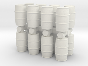 Blue Chemical Barrel (x16) 1/87 in White Natural Versatile Plastic