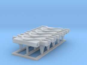T75 Track_Link_x5 in Smooth Fine Detail Plastic