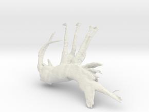 Shrimp, 100mm version in White Natural Versatile Plastic