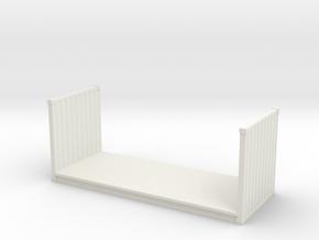 20ft Flatrack Container 1/87 in White Natural Versatile Plastic