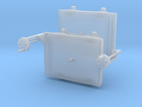 A-1-76-wagon-d-class-bogies in Smooth Fine Detail Plastic