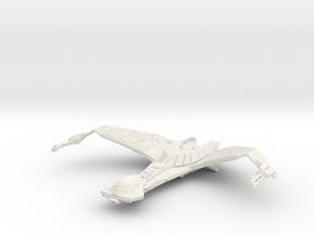 Klingon Z'Gavva Class in White Natural Versatile Plastic