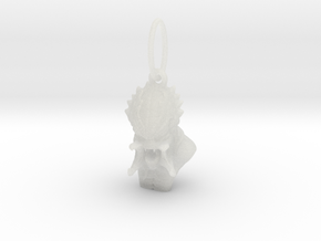 Predator alien pendant  in Smooth Fine Detail Plastic