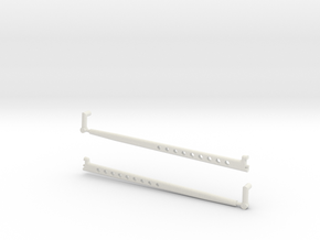 1/8 scale Radius Arm option 2 in White Strong & Flexible