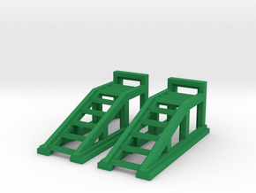 RC Garage 4WD Truck Car Ramps 1:43 Scale in Green Processed Versatile Plastic