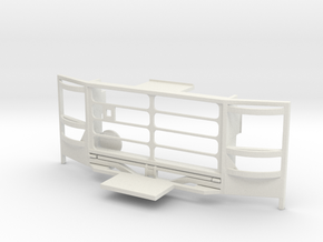 WPL 1/16 Truck Front Grille D in White Natural Versatile Plastic