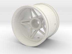 2.2 Star Wheel Variant in White Natural Versatile Plastic