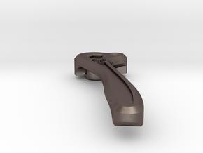 Leatherman Skeletool Tip Up Pocket Clip  in Polished Bronzed-Silver Steel