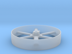 Six Spoke Pulley in Smooth Fine Detail Plastic