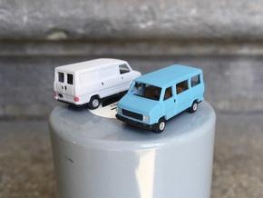 Van & minibus Fiat/PSA - N scale 1:160 in Smooth Fine Detail Plastic