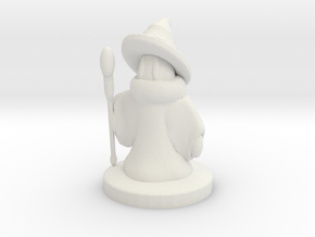 Mage / Black Mage Final Fantasy II. Miniature 25mm in White Natural Versatile Plastic