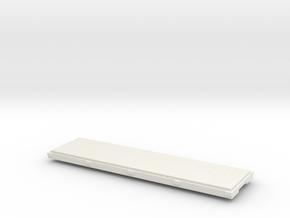 009 narrow gauge 24 foot flat wagon in White Natural Versatile Plastic