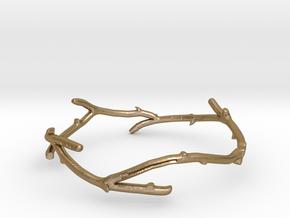 twigling cuff in Polished Gold Steel