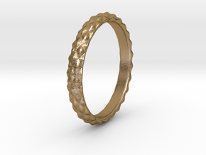 soft thorns ring in Polished Gold Steel