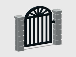 Rod Iron Man Gate-2b in Smooth Fine Detail Plastic: 1:87 - HO
