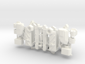 Workroid Arms in White Processed Versatile Plastic