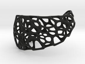 Spiral Cuff in Black Natural Versatile Plastic: Medium