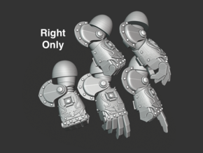 5x Ornate - Right-handed Energy Fists [Group 1] in Smooth Fine Detail Plastic