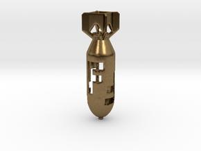 Dropping Da F-Bomb! A Tritium or Glow in the Dark  in Natural Bronze