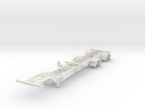000703 HO Container Trailer in White Natural Versatile Plastic: 1:87 - HO