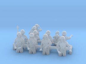 Tank Crew Cold War Set A 15mm 1/100 scale in Smooth Fine Detail Plastic