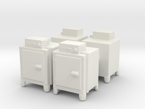 Hot Air Oven (x4) 1/87 in White Natural Versatile Plastic